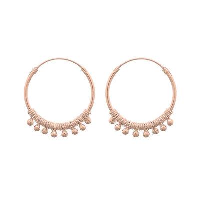 MIAB Jewels MIAB Oorbellen | Rose Goud | Twiddle | 14k Rose Goud Vermeil