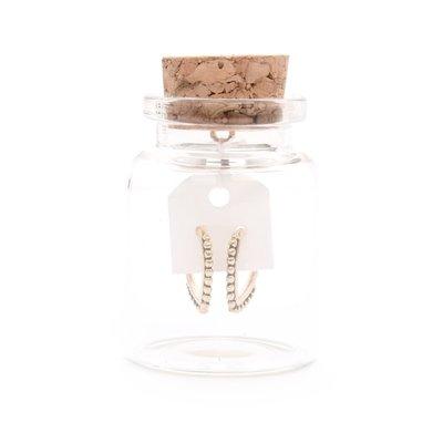 MIAB Jewels MIAB Oorbellen | Rose Goud | Pointy Dots | 14k Rose Goud Vermeil
