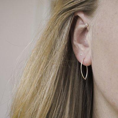 MIAB Jewels MIAB Oorbellen | Rose Goud | Angle | 14k Rose Goud Vermeil