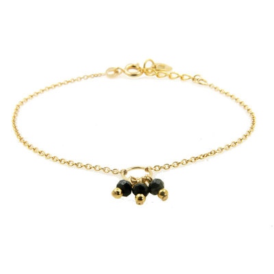 LILLY LILLY Armband | Precious Bunch Gold | Onyx  | 18 Karaats