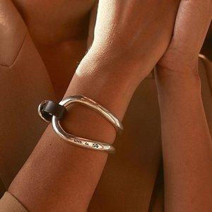 UNOde50 UNOde50 Armband | BITE | Zilver | Leer | Uniek Design