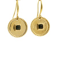LILLY LILLY Oorbellen | Inca Square Stone Gold | Onyx | 18 Karaats