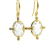 LILLY LILLY Oorbellen | Crystal de Luxe Gold | 18 Karaats