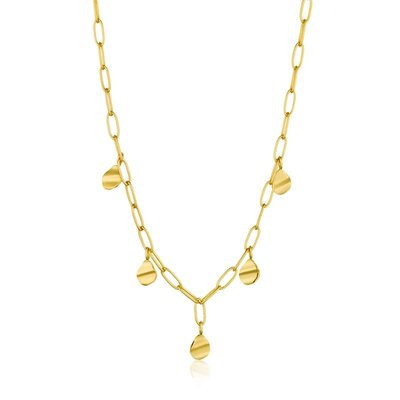 ANIA HAIE ANIA HAIE Necklace   CRUSH DROP DISCS   GOLD   N017-02G