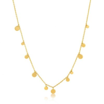 ANIA HAIE ANIA HAIE Necklace | GEOMETRY MIXED DISCS | GOLD |  N005-01G