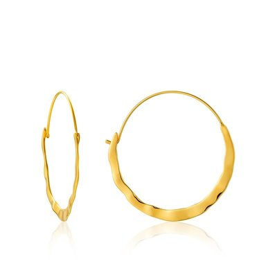 ANIA HAIE ANIA HAIE Earrings | CRUSH HOOPS | GOLD | E017-07G