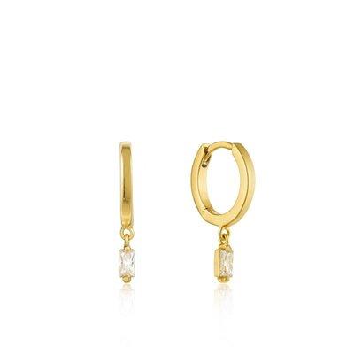 ANIA HAIE ANIA HAIE Earrings | GLOW HUGGIE HOOPS | VERGULD | E018-09G