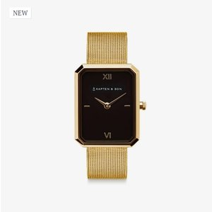 KAPTEN & SON KAPTEN & SON Horloge | GRACE GOLD | BLACK MESH