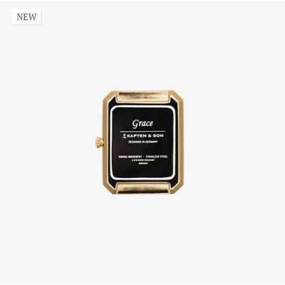 KAPTEN & SON KAPTEN & SON Horloge | GRACE GOLD | BLACK MESH