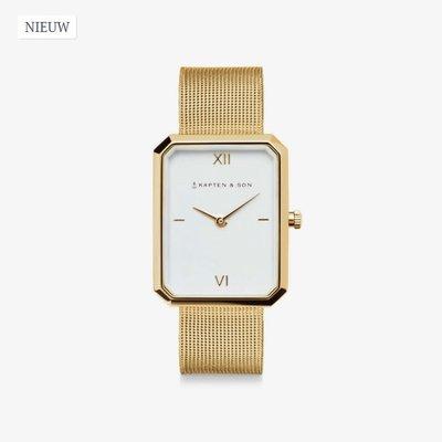 KAPTEN & SON KAPTEN & SON Horloge | GRACE GOLD | MESH