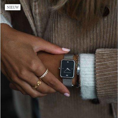 KAPTEN & SON KAPTEN & SON Horloge | GRACE ZILVER | BLACK MESH
