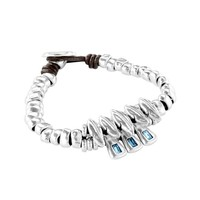 UNOde50 UNOde50 Armband | SPARKS FLY | ZILVER | BLAUW | JAPAN SS20