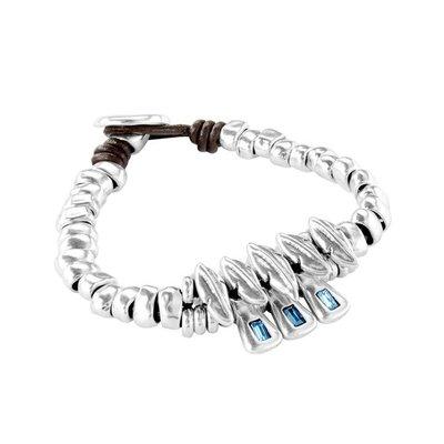 UNOde50 UNOde50 Armband | SPARKS FLY | ZILVER | BLAUW | JAPAN | PUL1893AZUMTL
