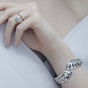 UNOde50 UNOde50 Armband | FEATHER IN THE BREEZE | ZILVER | JAPAN SS20