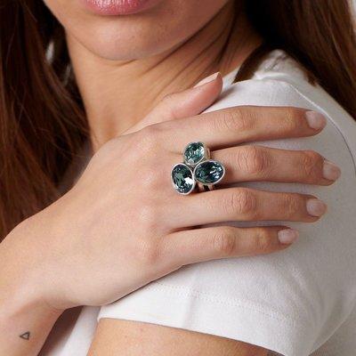 UNOde50 UNOde50 Ring | TREASURE | Zilver | Kristal | Blauw | SS19 | ANI0591AZUMTL