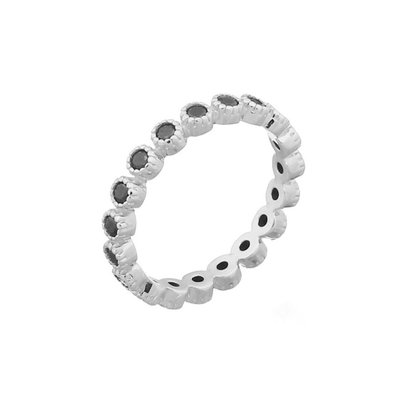 MIAB Jewels MIAB Ring | Zilver | Blacky Black