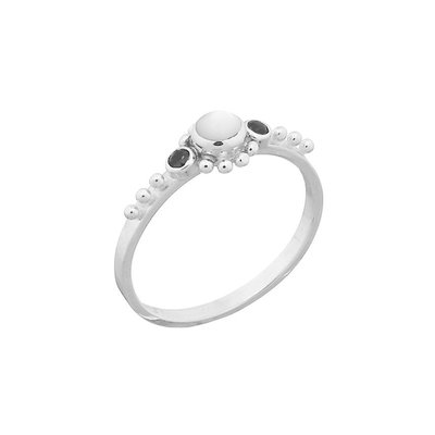 MIAB Jewels MIAB Ring | Zilver | Black x Pearl