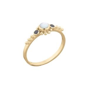 MIAB Jewels MIAB Ring | Goud | Black x Pearl