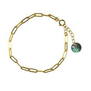 BLINCKSTAR BLINCKSTAR Armband | Goldfilled | Rechte Schakel