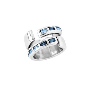 UNOde50 UNOde50 Ring | NIGHTBIRD WRAP | Zilver | Blauw | JAPAN | SS20