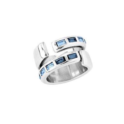 UNOde50 UNOde50 Ring | NIGHTBIRD WRAP | Blauw | JAPAN | ANI0621MTLAZU00