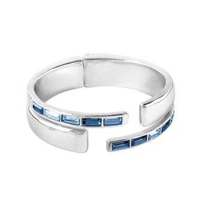 UNOde50 UNOde50 Armband | NIGHTBIRD WRAP | ZILVER | BLUE | JAPAN SS20