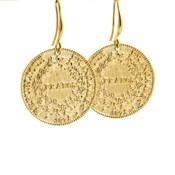 LILLY LILLY Oorbellen |  Big Franc Gold | 18 Karaats