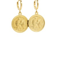 LILLY LILLY Oorbellen |  Rooster Coin Gold | 18 Karaats