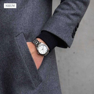 KAPTEN & SON KAPTEN & SON Horloge | CRUSH | SILVER STEEL | 36 MM