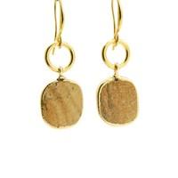LILLY LILLY Oorbellen | Ring Oval Goldstone | Maansteen | 14 Karaats