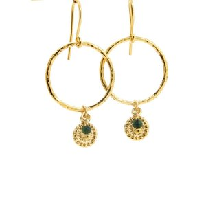 LILLY LILLY Oorbellen | Ring L Mini Pointcharm Bead | Gold | Jaspis | 18 Karaats