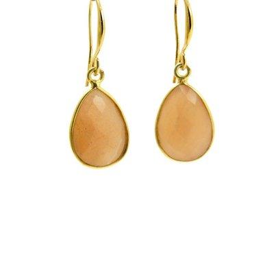 LILLY LILLY Oorbellen | Precious Drop Medium Gold | Maansteen