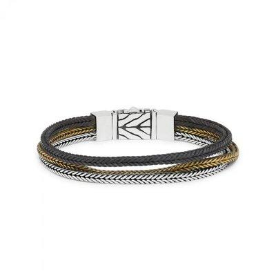 SILK Jewellery SILK Armband | 284 ARMBAND | ZILVER GEPOLIJST, MAT & MESSING