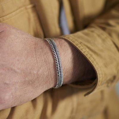 SILK Jewellery SILK Armband | 235 ARMBAND CLASSIC CHEVRON | Zilver