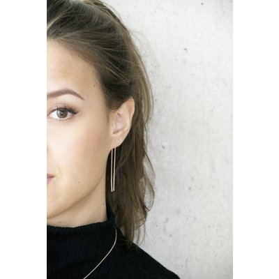 MIAB Jewels MIAB Oorbellen | Goud | Double Line | 14k Goud Vermeil