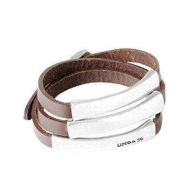 UNOde50 UNOde50 Armband | BLACKOUT BROWN | ZILVER | CHINA | PUL1897MTLMAR0M
