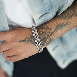 SILK Jewellery SILK Armband | 203 ARMBAND | CLASSIC CHEVRON | Zilver
