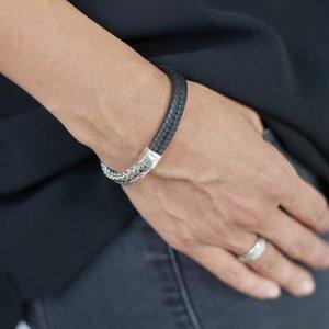 SILK Jewellery SILK Armband | 252BLK ARMBAND | CHEVRON | ZILVER | ZWART