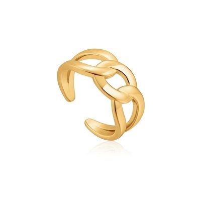 ANIA HAIE ANIA HAIE Ring | CHAIN REACTION | VERGULD  | R021-02G