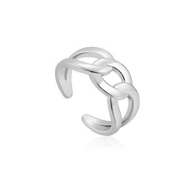 ANIA HAIE ANIA HAIE Ring | CHAIN REACTION | ZILVER | R021-02H