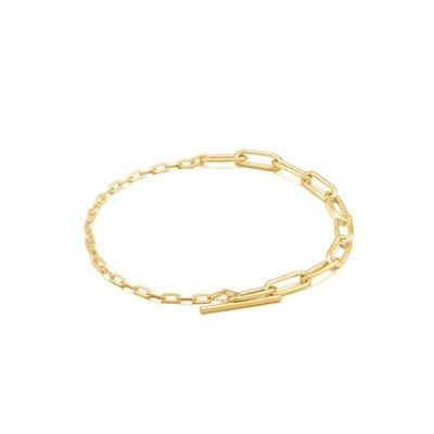 ANIA HAIE ANIA HAIE Bracelet   MIXED LINKS T-BAR   GOLD   B021-02G