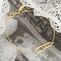 ANIA HAIE ANIA HAIE Bracelet | BEADED CHAIN LINK | VERGULD