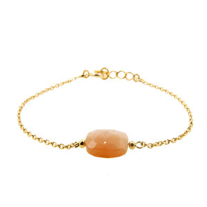 LILLY LILLY Armband   Precious Square Stone Gold   Maansteen   14 Karaats