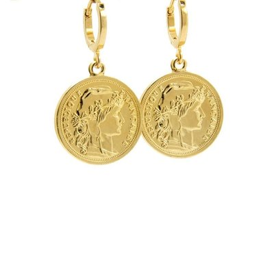 LILLY LILLY Oorbellen |  Mister Coin Gold | 18 Karaats