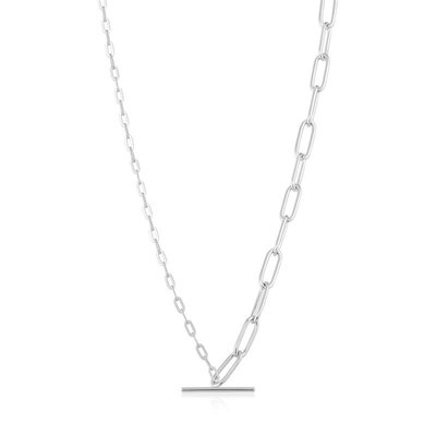 ANIA HAIE ANIA HAIE Necklace | MIXED LINK T-BAR | ZILVER | N021-02H