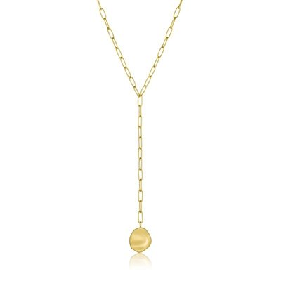 ANIA HAIE ANIA HAIE Necklace | CRUSH DISC | Y-NECKLACE | GOLD | N017-01G