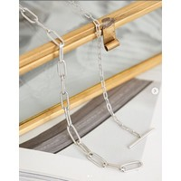 ANIA HAIE ANIA HAIE Necklace | MIXED LINK T-BAR | ZILVER