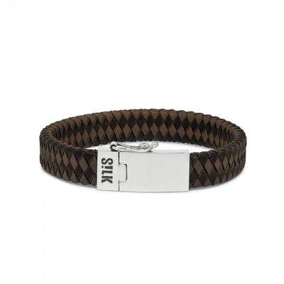SILK Jewellery SILK Armband | 841BBR ARMBAND | ZWART-BRUIN