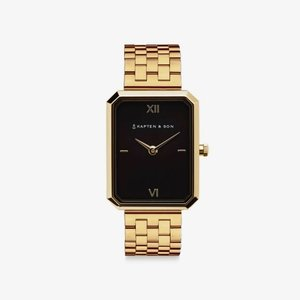 KAPTEN & SON KAPTEN & SON Horloge | GRACE GOLD | BLACK STEEL