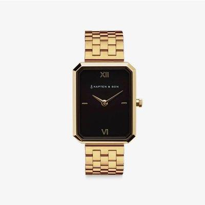 KAPTEN & SON KAPTEN & SON Horloge | GRACE GOLD | BLACK STEEL